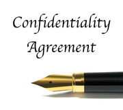 stock image of  confidentiality agreement