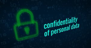 stock image of  confidentiality of personal data