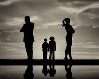 stock image of  conflict and divorce in the family