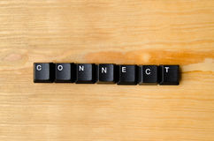 stock image of  connect word