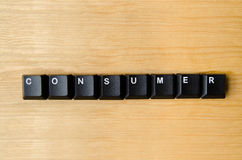 stock image of  consumer word