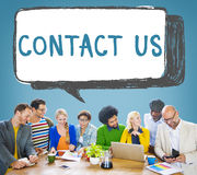 stock image of  contact us hotline info service customer care concept