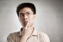stock image of  contemplate man