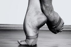 stock image of  contemporary dancer feet