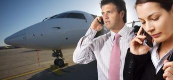 stock image of  corporate jet