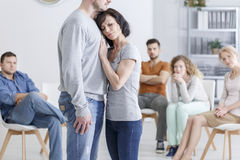 stock image of  couples with trust issues