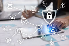 stock image of  cyber security, data protection, information safety and encryption.