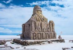 stock image of  dakar bolivia monument in salar de uyuni, bolivia