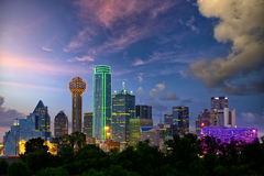 stock image of  dallas at dusk