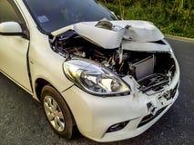stock image of  damage car