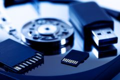 stock image of  data storage devices