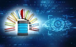 stock image of  database or archive concept. data storage. 3d render