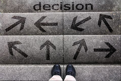 stock image of  the decision
