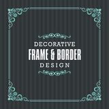 stock image of  decorative frame, border with ornamental line style
