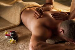 stock image of  deep tissue massage.