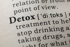 stock image of  definition of detox