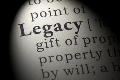 stock image of  definition of legacy