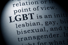 stock image of  definition of lgbt