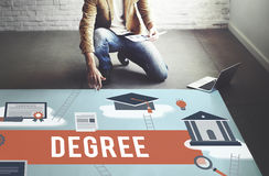 stock image of  degree diploma bachelor master expertise wisdom concept