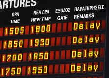 stock image of  delay information display