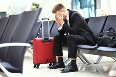 stock image of  delayed flight