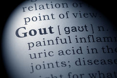 stock image of  dictionary definition of gout
