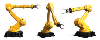 stock image of  different industrial robots