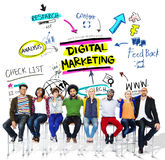 stock image of  digital marketing branding strategy online media concept