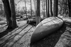 stock image of  dirty canoe