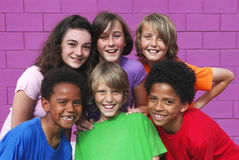 stock image of  diverse kids, children