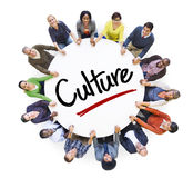 stock image of  diverse people in a circle with culture concepts