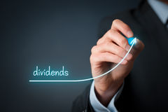 stock image of  dividends increase