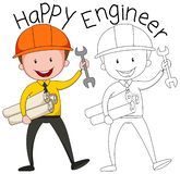 stock image of  doodle graphic of engineer