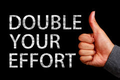 stock image of  double your effort