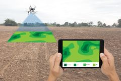 stock image of  drone for agriculture, drone use for various fields like research analysis, safety,rescue, terrain scanning