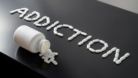 stock image of  drug or medicine addiction