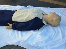stock image of  dummy dress for simulation first intervention