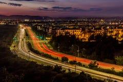 stock image of  dusk traffic