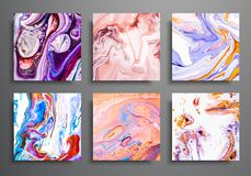stock image of  dynamic backgrounds. trendy placards, commercial covers set. marble colorful effect. abstract page poster template for catalog, cr