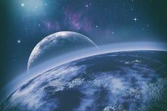 stock image of  earth orbit. universe.