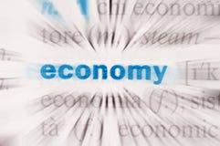 stock image of  economy word