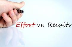 stock image of  effort vs. results concept