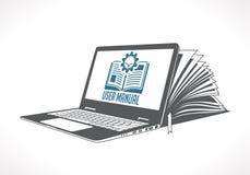 stock image of  elearning logo - ebook, e-learning and knowledge base