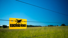 stock image of  electric fence