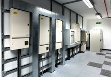 stock image of  electrical breaker boxes