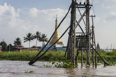 stock image of  electricity on lake inle