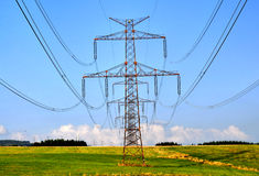 stock image of  electricity poles