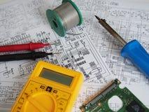 stock image of  electronics background