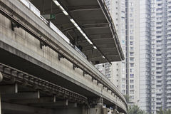 stock image of  elevated train
