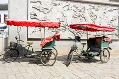 stock image of  cycle rickshaws in china